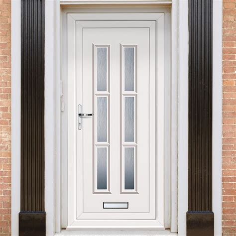Exterior Pvc Doors Exterior Lyon Six Upvc Door External White Pvc Doors