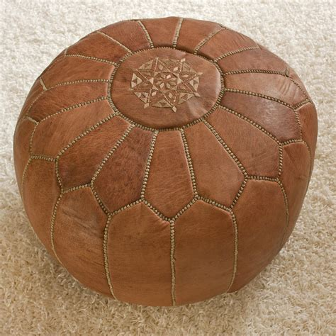 leather pouf ottoman nuloom nusapou1 nuloom living leather moroccan pouf