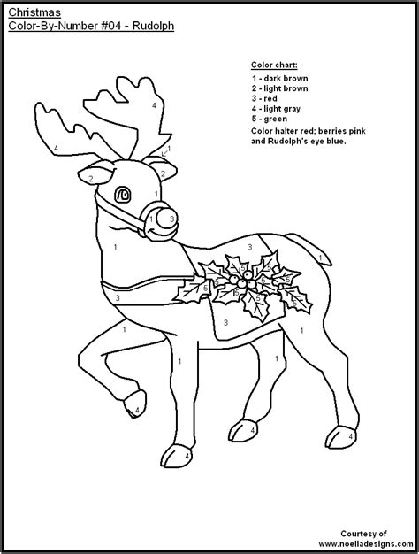 christmas color by number coloring pages printable 6 christmas color by number printables