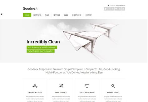 drupal theme detector goodnex drupal theme download review 2018