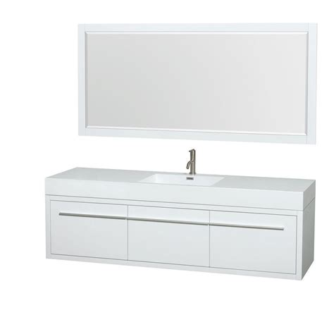 wyndham collection axa 72 in vanity in glossy white with