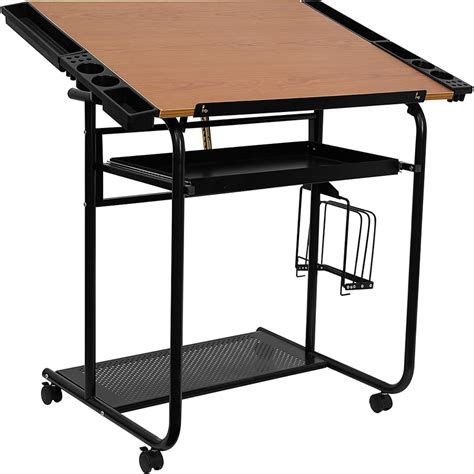 Adjustable Drawing And Drafting Table With Black Frame And Drafting Table Parts