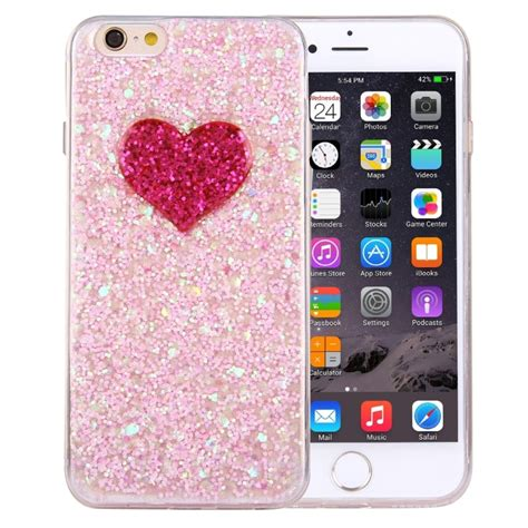 Softcase Iphone 6g Plus 6s Plus Water Glitter Ring Hello Silver for iphone 6 plus 6s plus glitter powder pattern tpu soft protective back cover