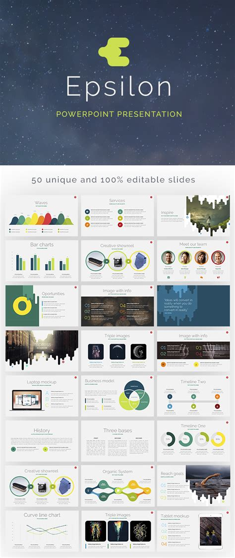 epsilon powerpoint template  sample graphicburger