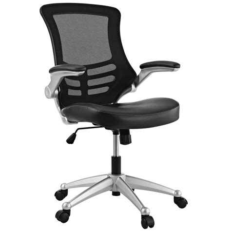 office chair seat lexmod attainment office chair with black mesh
