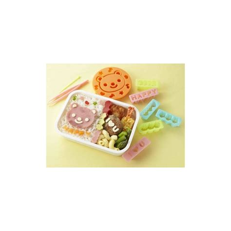Japanese Ham Cheese Food Bento Cutter Panda Buterfly Flower japanese bento accessories ham cheese cutter set and messages