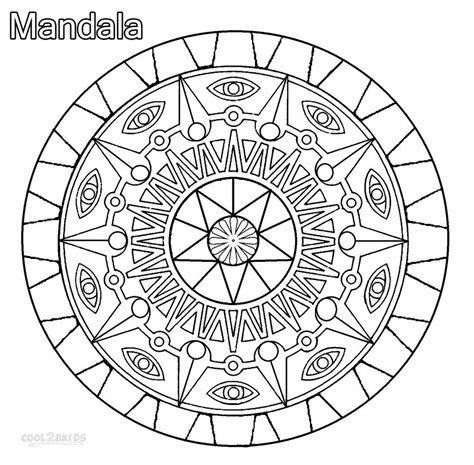 printable mandala coloring pages for kids cool2bkids