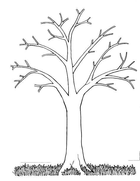 coloring pages tree trunk mormon share tree bare originals craft and mosaics