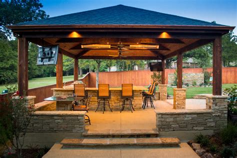 outdoor kitchen pavilion designs pavilion with outdoor kitchen and table for two