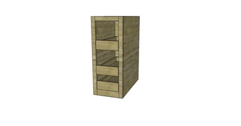woodworking plans  build  spice cabinet drawers