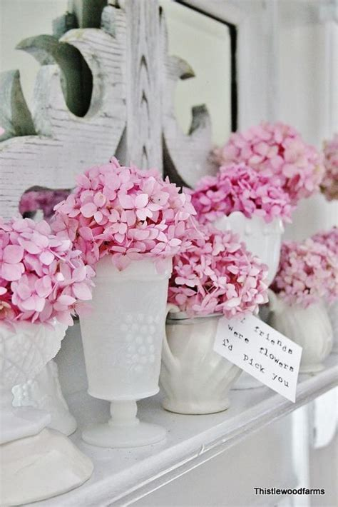 Rosa Tischdeko Hochzeit by Heiraten Inmitten Hortensien Hochzeitsblog Schweiz