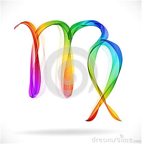 virgo color abstract color sign of the zodiac virgo stock photo