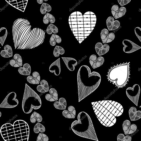 black love themes abstract background with retro hearts creative vector