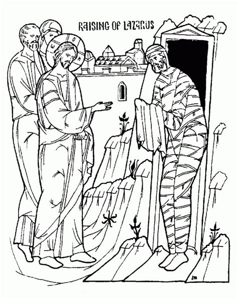 jesus heals lepers coloring pages