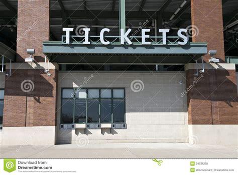 sports boxes sports stadium tickets box office ticket stock photo