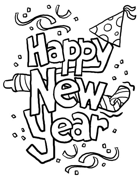 new year clipart black and white new year 2016 black and white clipart clipart suggest