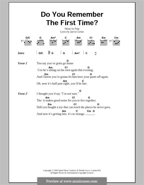jmsn do you remember the time lyrics do you remember the first time by pulp sheet music on