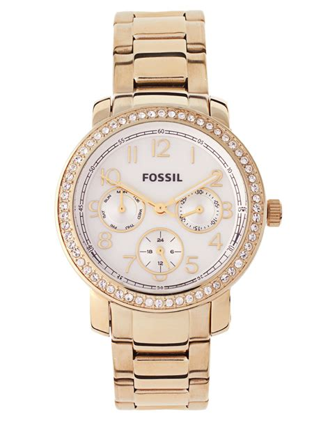 Fossil Cbell Gold 1 lyst fossil steel in metallic