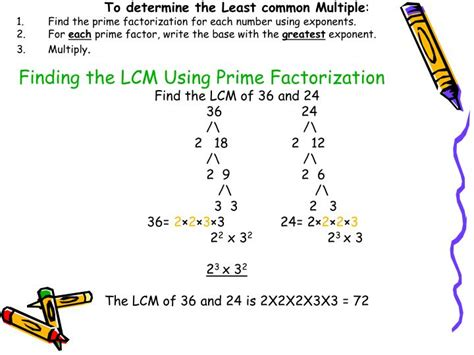 finding prime factors of n and their multiplicities ppt finding the lcm using prime factorization powerpoint
