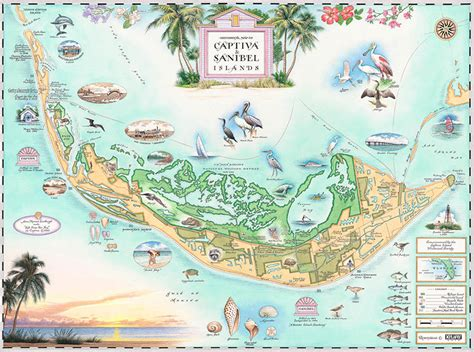 sanibel island map xplorer maps antique style maps