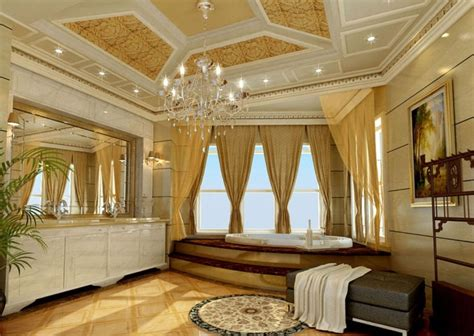 villa luxury bathroom interior design by european style luxurious ceiling design for european style bathroom villa