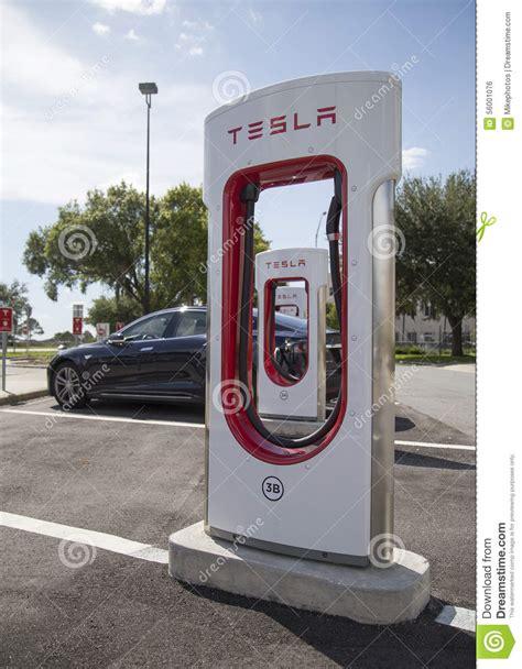 Tesla Charging Stations Florida Tesla Charging Station Stock Photo Image 56001076