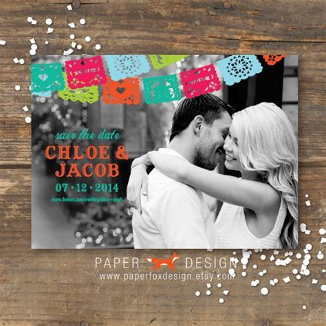 Fiesta Save the Date Photo Printable   Fiesta Wedding