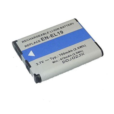 Nikon En El19 dorr en el19 lithium ion nikon type battery