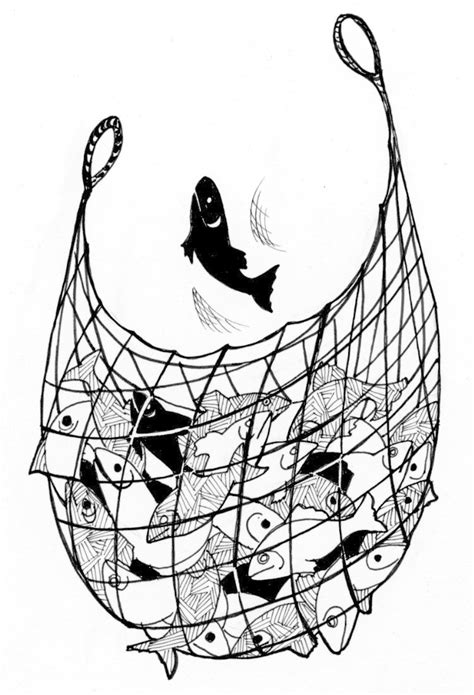 john 21 3 10 illustration net of fish saint mary s press