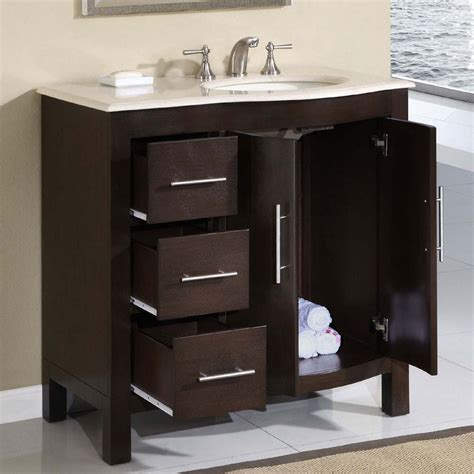 Vanity Sink Cabinet 36 Quot Silkroad Single Sink Cabinet Bathroom
