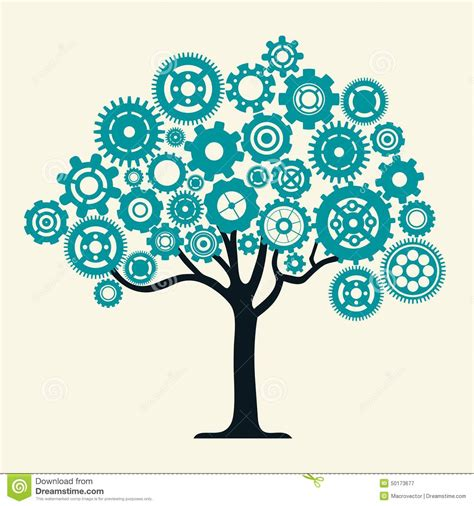 Cog Wheel Tree Stock Vector Image Of Computer Concept 50173677 Teamwork Tree Logo Vector Stock Vector Illustration Of Ecology Leafs 34023988