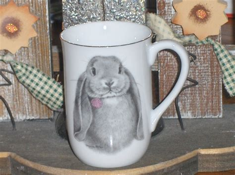 Kaos Bunny And Cup Of Tea otagiri lop ear bunny coffee tea cup mug glassware