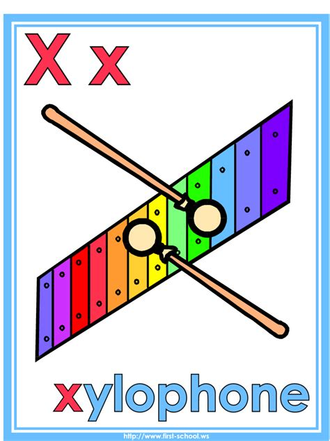 printable xylophone pictures letter x xylophone theme lesson plan printable activities