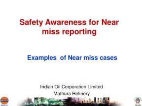 Hazard Incident Report Form Template safety awareness on near miss