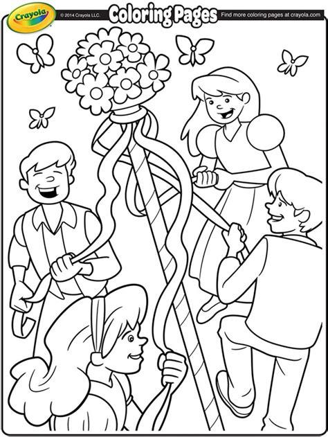 coloring pages may may day maypole coloring page crayola