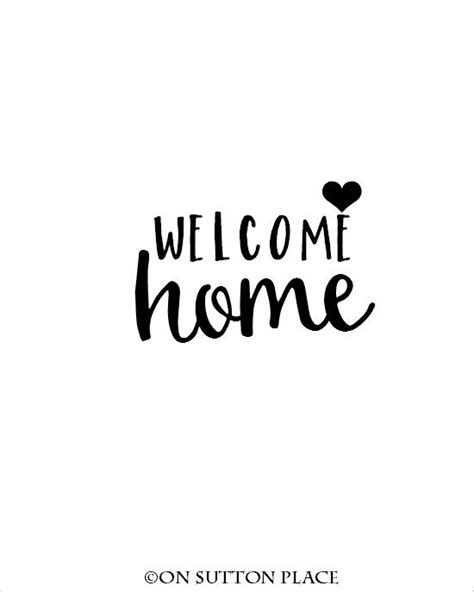 printable welcome card welcome home diy wall crafts and home