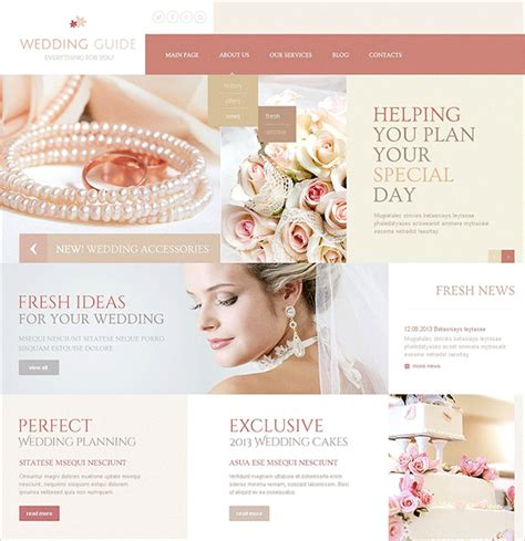 15 Wedding Joomla Themes Templates Free Premium Templates Joomla Wedding Template