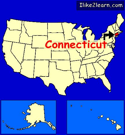 usa connecticut map connecticut