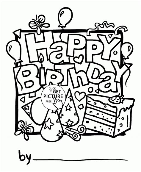 coloring pages of happy birthday cards nice happy birthday card coloring page for kids holiday