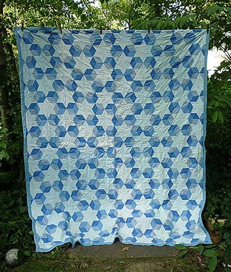 White And Blue Quilt Block Patterns by Columbia Baby S Blocks Quilt Blue And White From Chezmarianne On Ruby