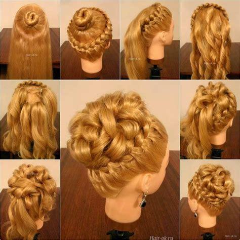elegant hairstyles diy wonderful diy elegant hairstyle with braids and curls