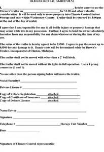 Free trailer rental agreement pdf 1 page s