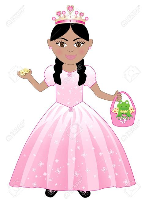 cartoon indian princess dress princess girl clipart 78