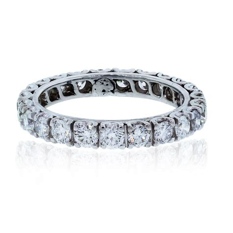 white gold ctw diamond eternity band ring