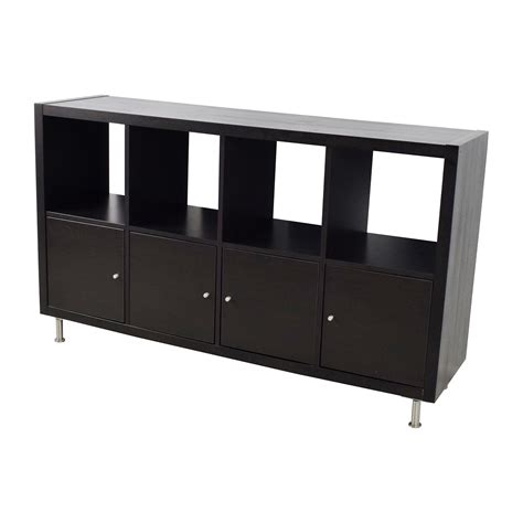 Black Shelf Unit by 43 Kallax Black Shelf Unit Storage