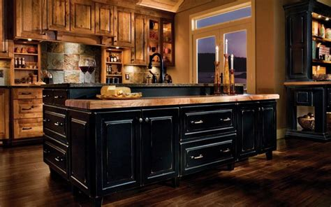 rustic kitchen furniture black rustic kitchen cabinets by kraftmaid kitchen