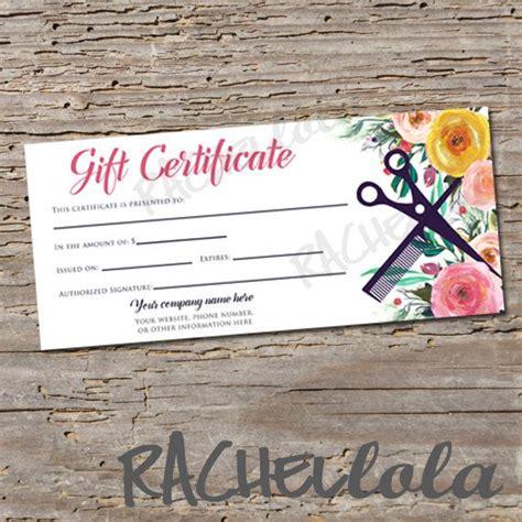 Hair Salon Gift Certificate Printable