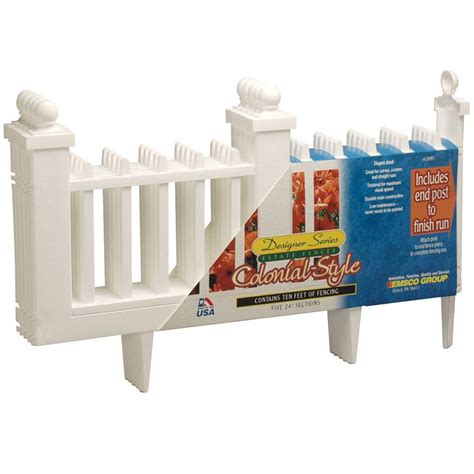 emsco   resin colonial garden fence  pack hd