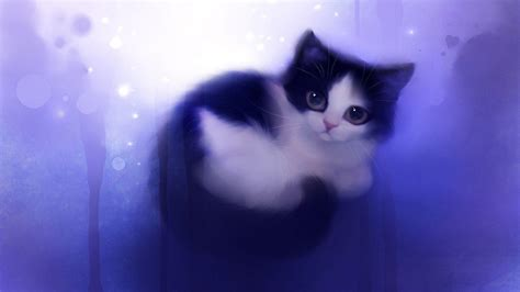 Anime Kitten by Anime Cats Wallpapers Wallpaper Cave