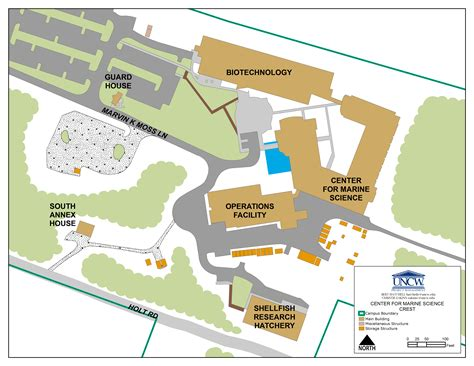 uncw map map